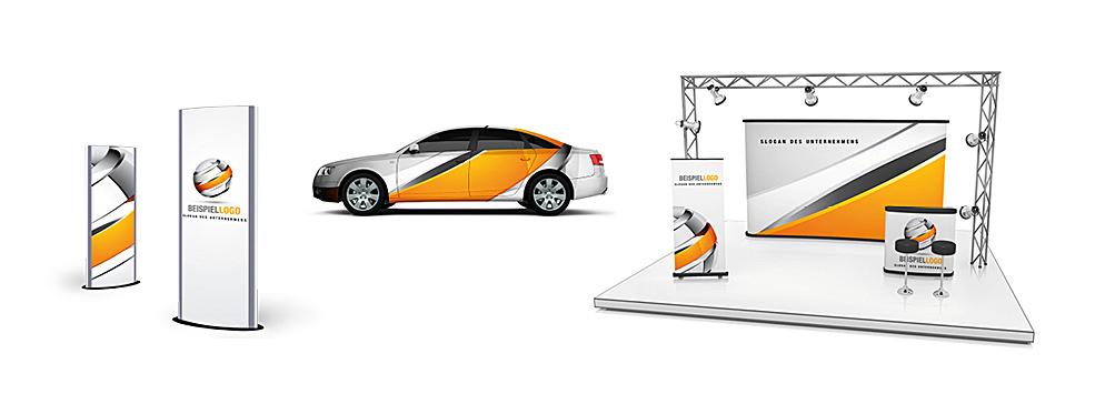 SIGADesign Werbetechnik Fahrzeugfolierung Messeauftritt
