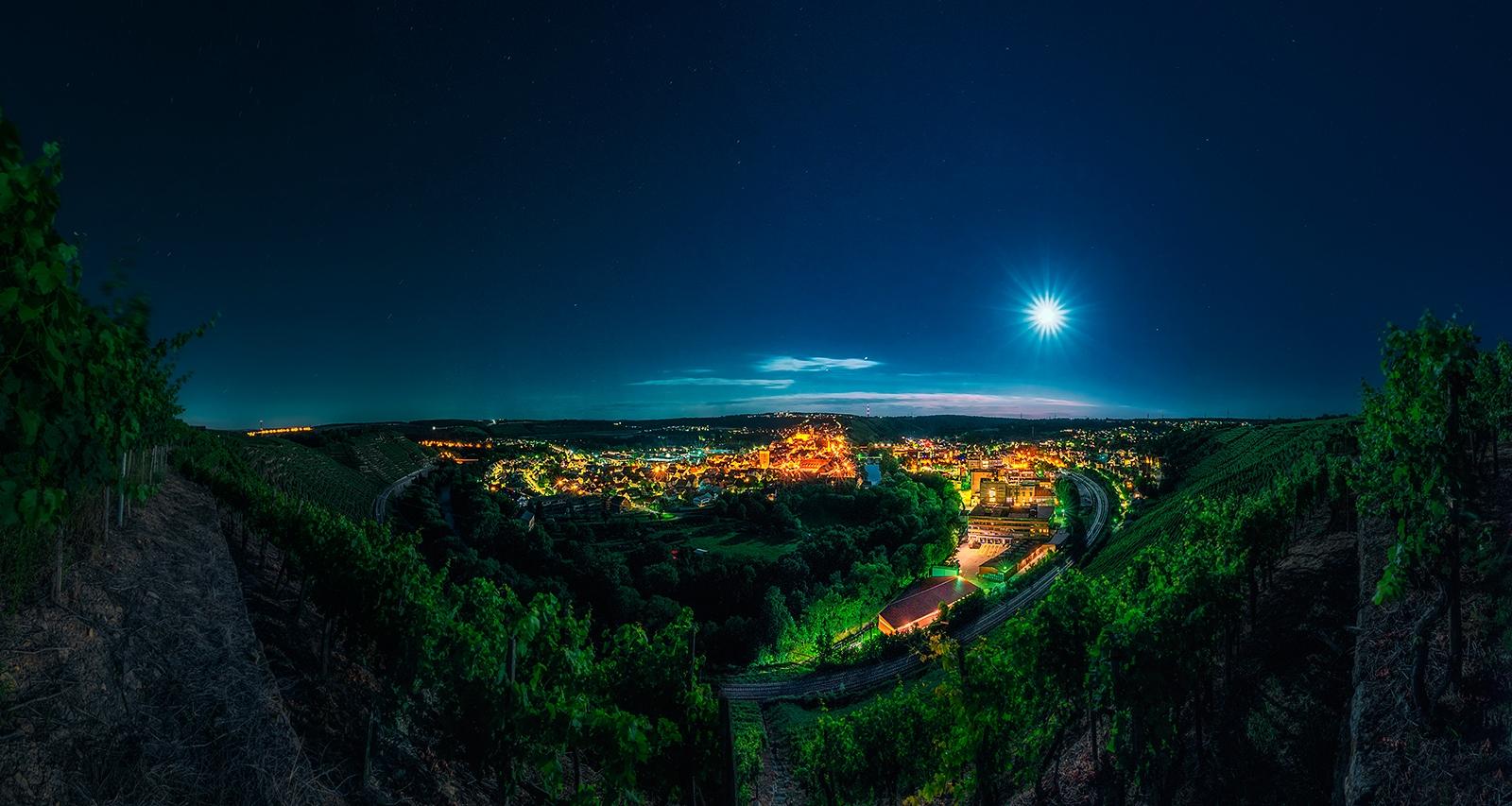 SIGADesign Fotografie Landschaft Besigheim Nacht Mondlicht