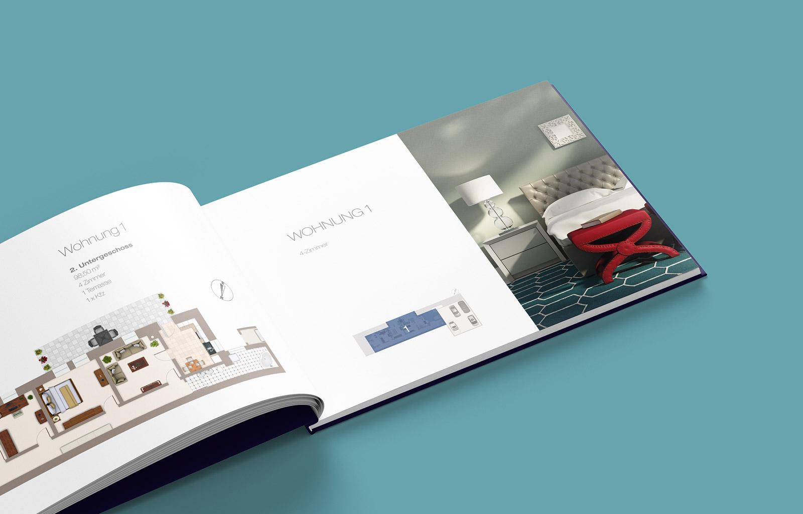 Portfolio Broschüre für Adensio Immobilien