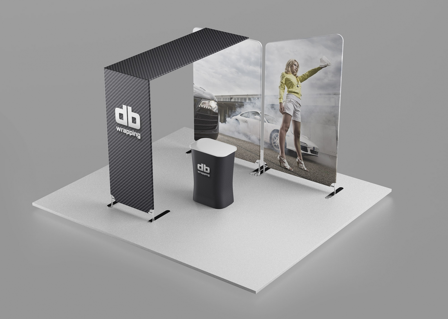 Messestand für db wrapping