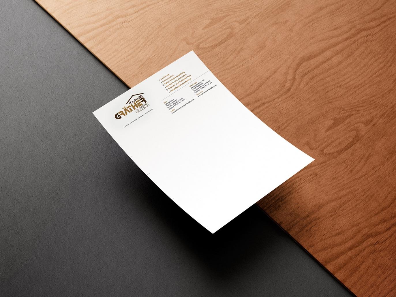 Briefpapier für Klaus Gräther