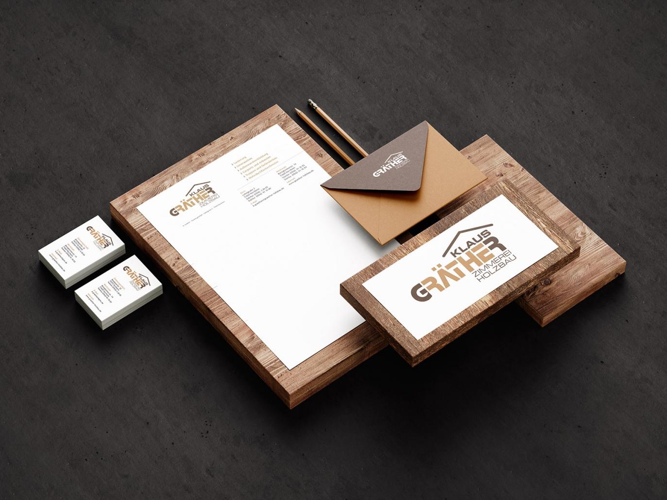 Logo, Briefpapier, Visitenkarten für Klaus Gräther