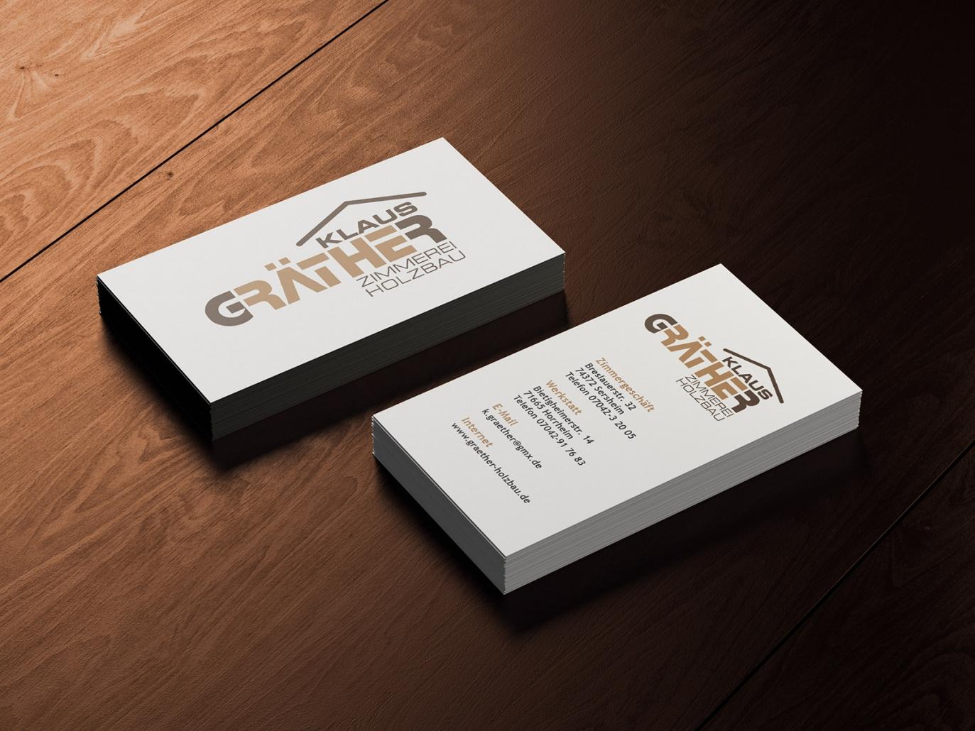 Visitenkarten für Klaus Gräther