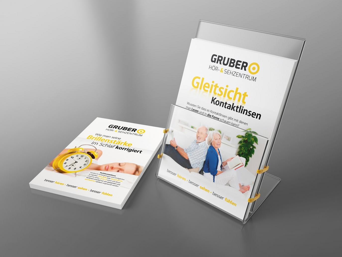 Flyer für Gruber Hör- & Sehzentrum