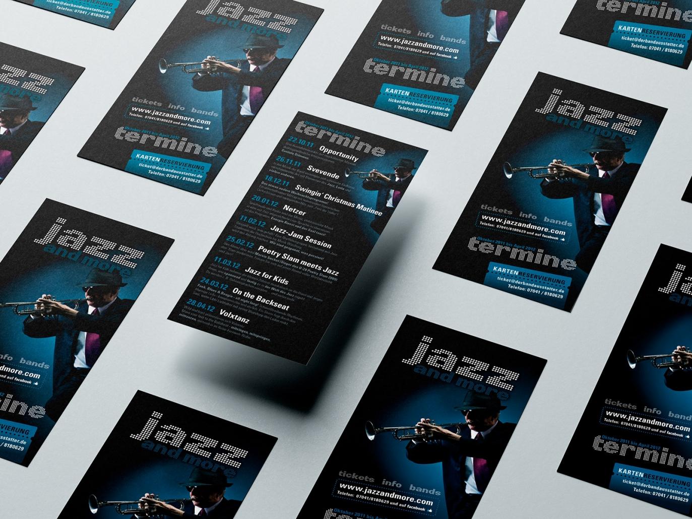 Logo, Flyer Programm für den Event jazz and more