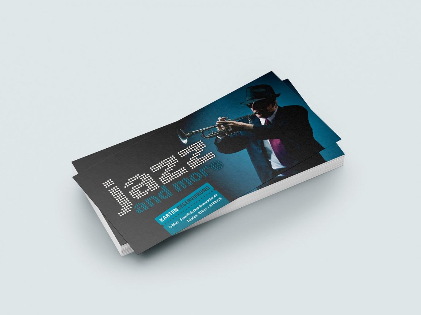 Logo, Flyer für den Event jazz and more