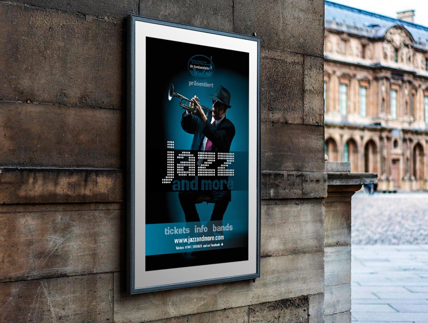 Logo, Plakate für den Event jazz and more