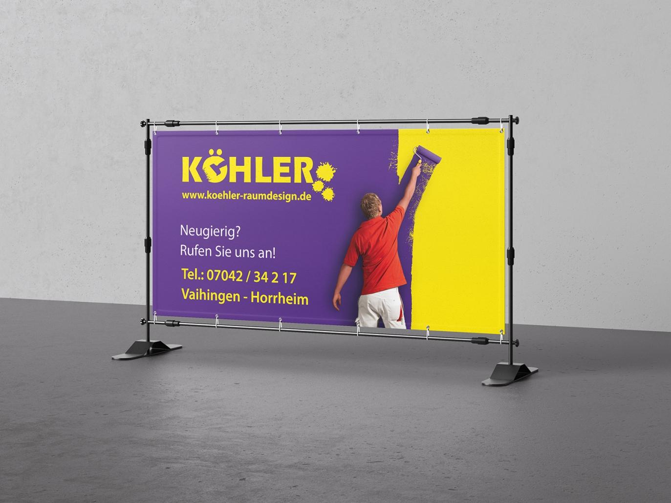 PVC-Banner für Armin Köhler - Malermeister