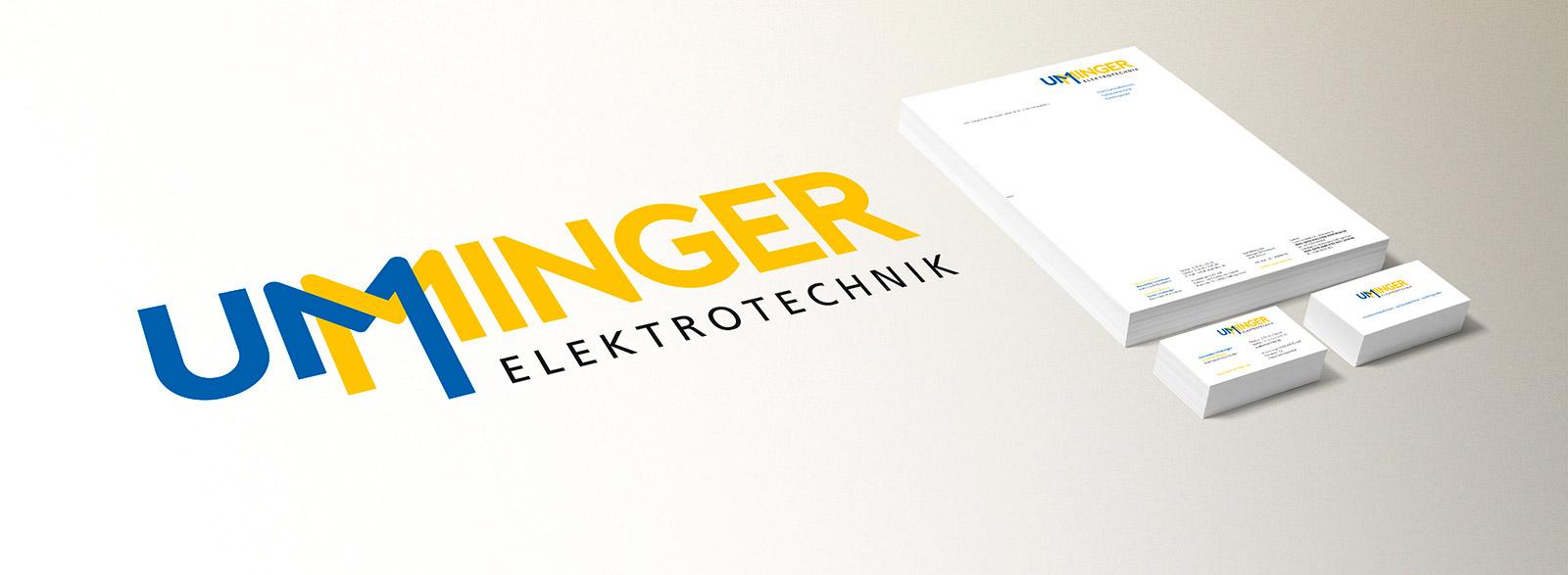Logo, Briefpapier, Visitenkarten für Ummiger Elektrotechnik (LUMAIR Filtertechnik)