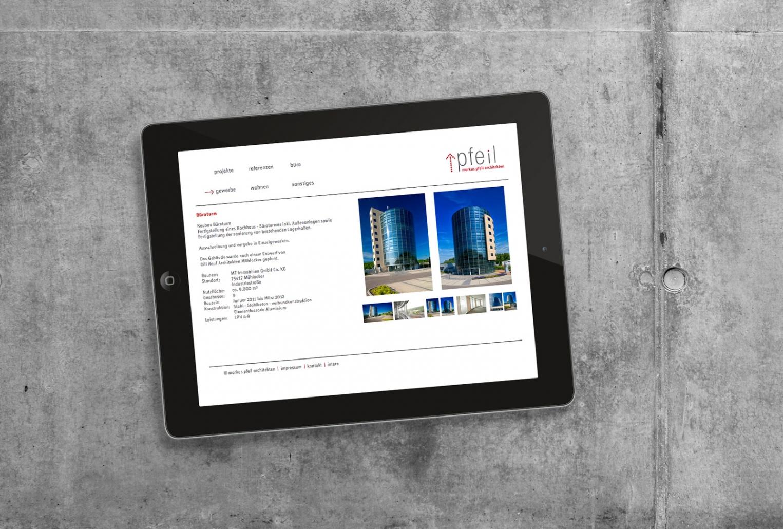 Website für markus pfeil architekten