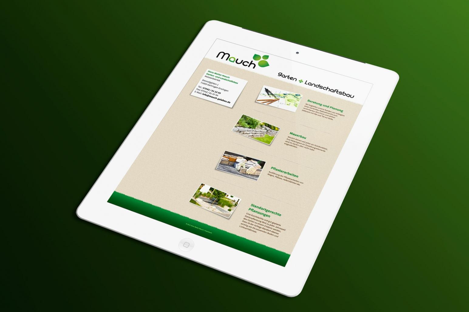Website Mauch Galabau