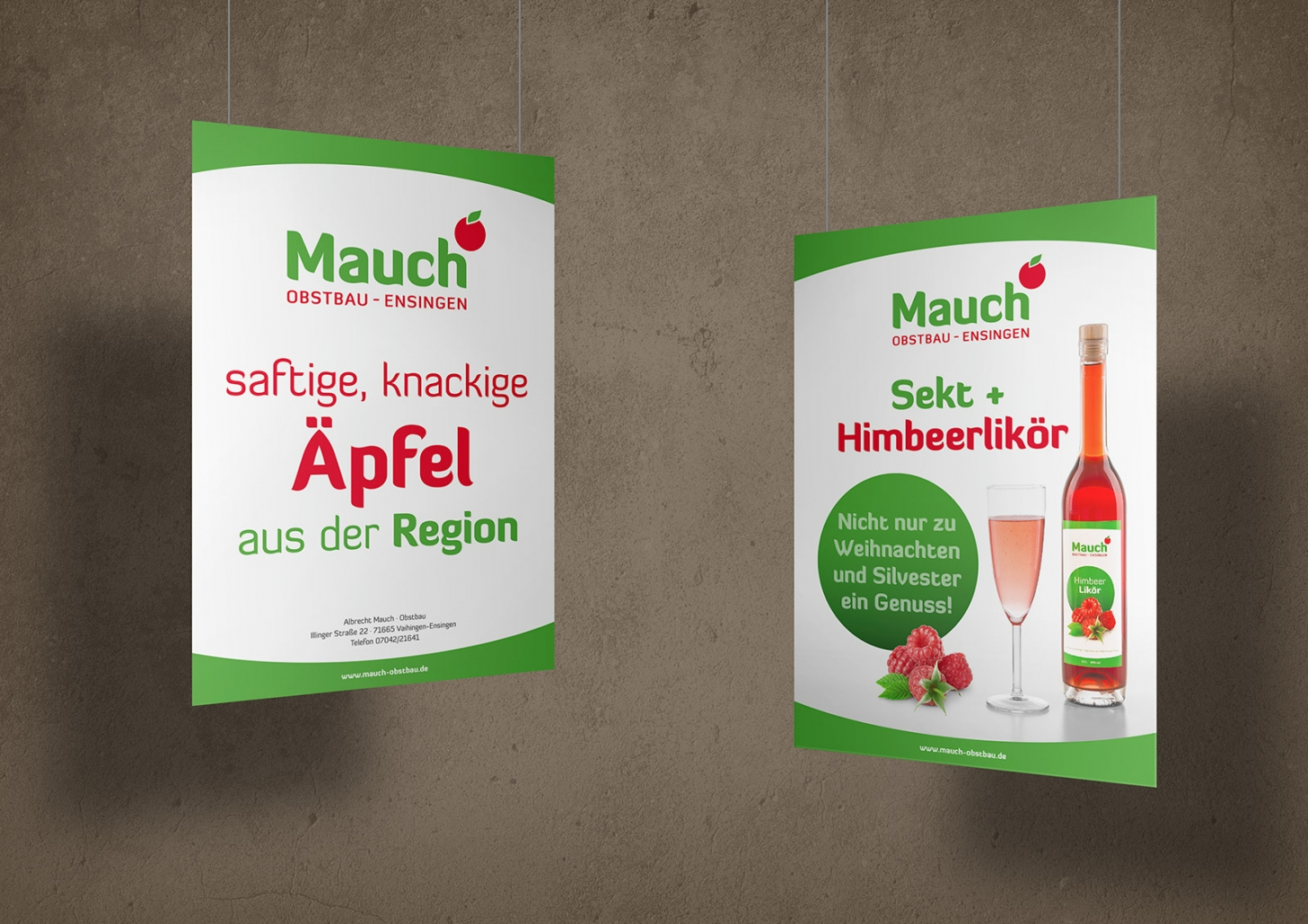Plakate und Schilder für Obstbau Mauch