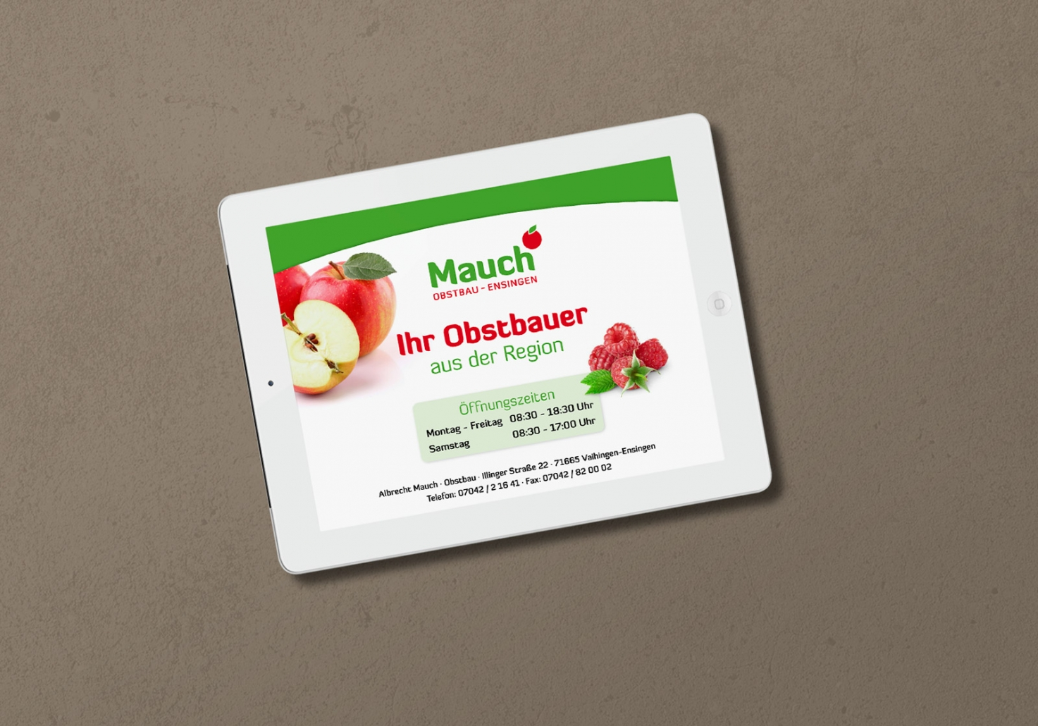 Website für Obstbau Mauch