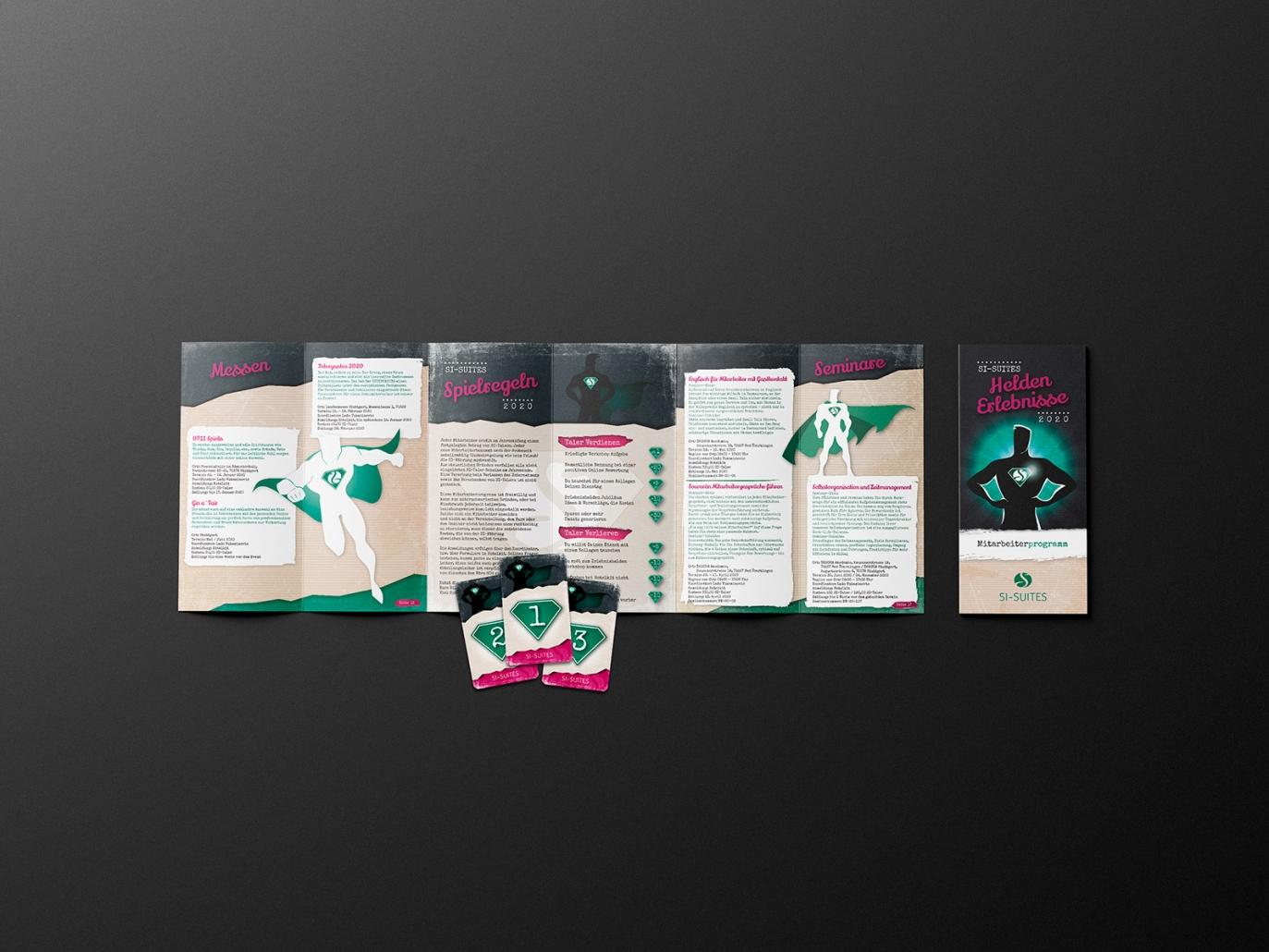 Broschüre / Mitarbeiterprogramm für SI-SUITES