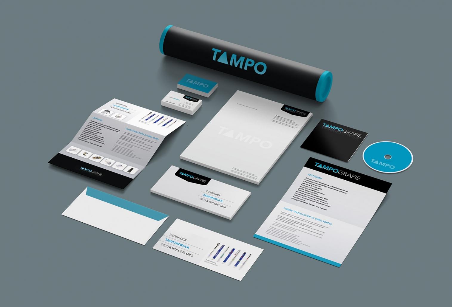 Logo, Briefpapier, Visitenkarten, Flyer, Notizblöcke, give-aways etc. für Tampografie