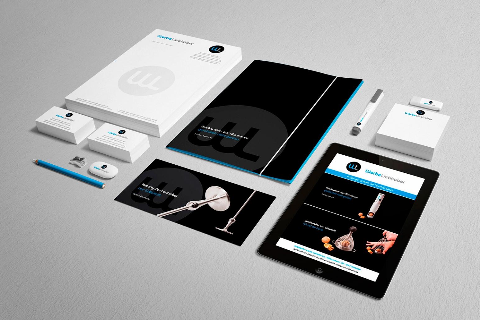 Logo, Briefpapier, Visitenkarten, Flyer, Notizblöcke, give-aways etc. für Werbeliebhaber