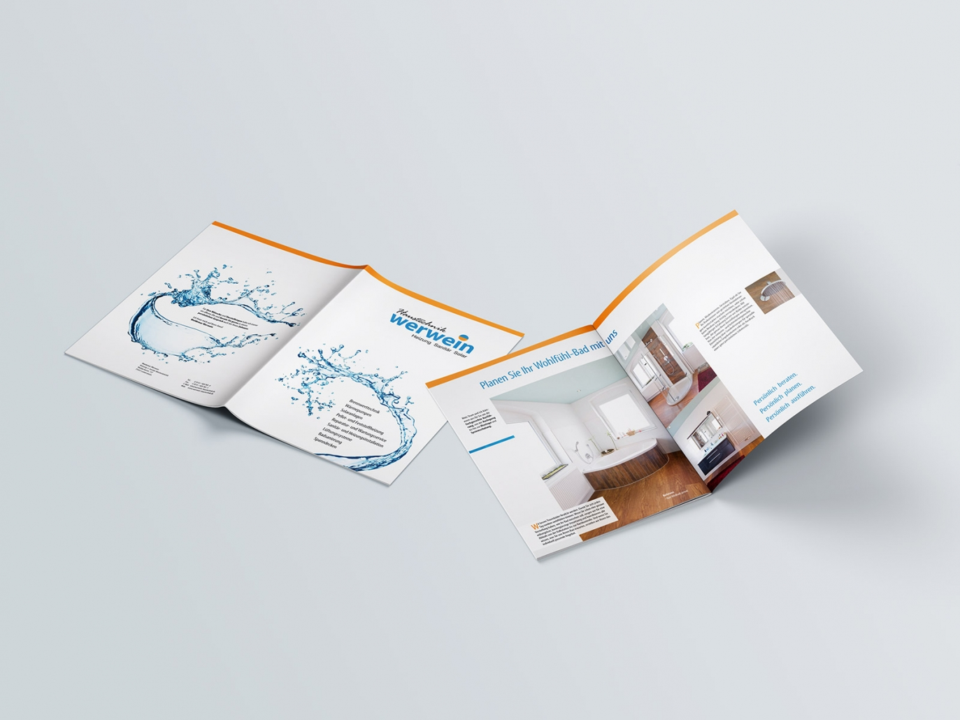 Broschüre für Haustechnik Werwein