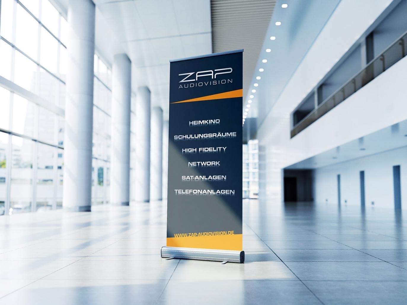 Roll-Up Display für ZAP audiovision