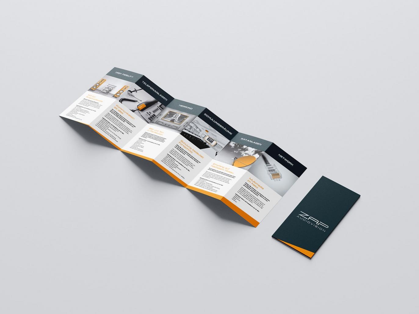 Flyer für ZAP audiovision