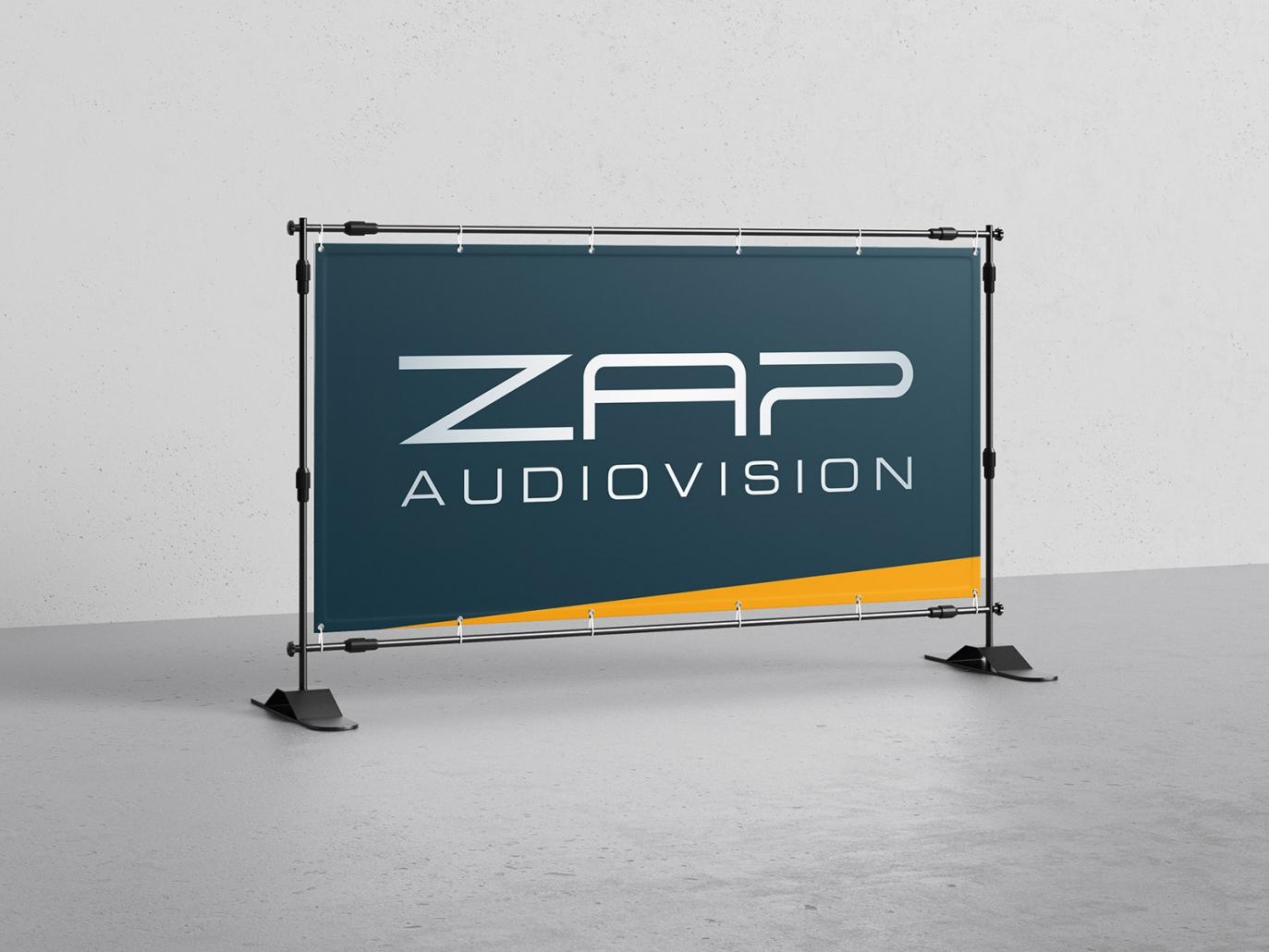 PVC-Banner für ZAP audiovision