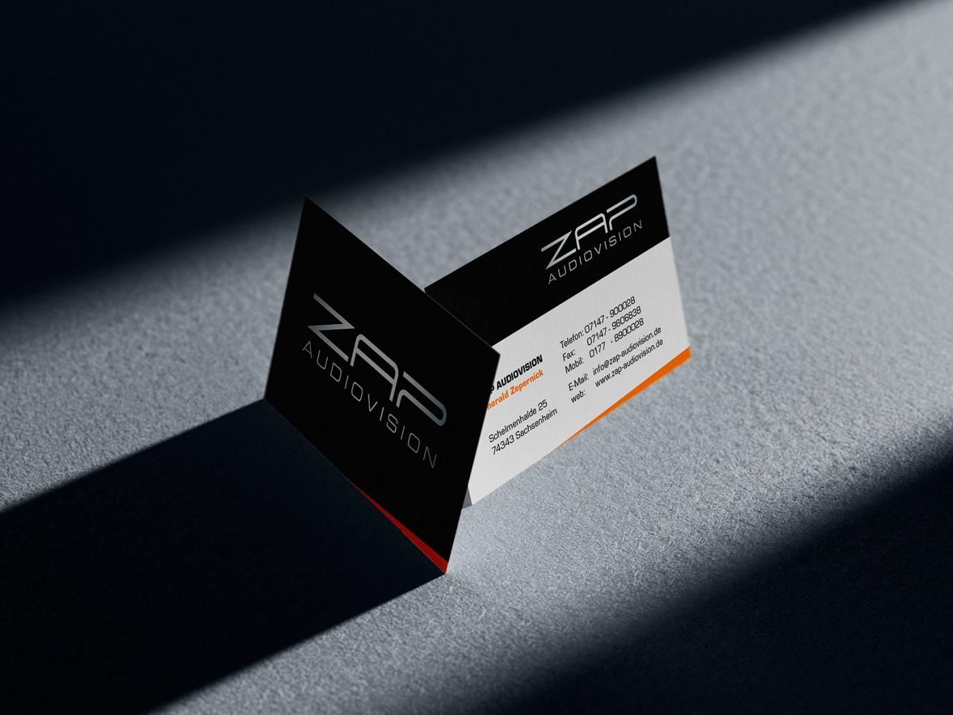 Visitenkarten für ZAP audiovision
