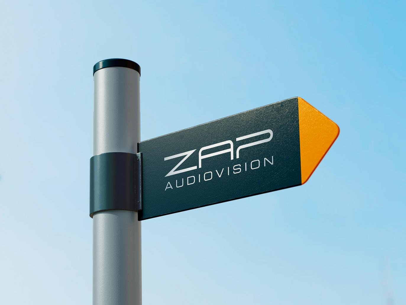 Wegeleitsystem, Schild für ZAP audiovision