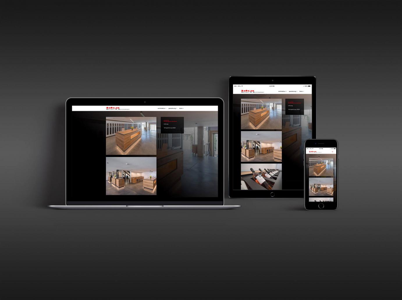 Responsive Website: Konzeption - Gestaltung - Realisierung für bka bangert k architekten / www.bk-a.com